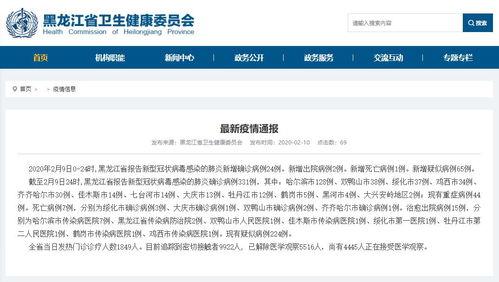 最新哈尔滨新增确诊病例14例黑龙江累计331例全国新增确诊3062例