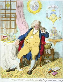 乔治四世漫画 爱美的酒鬼 吃货以及胖子