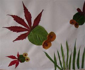 教幼儿用树叶制作粘贴画——超人