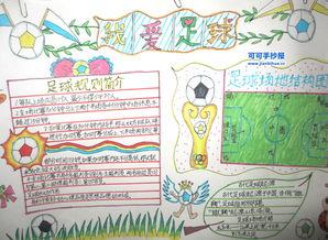足球手抄报版面设计图