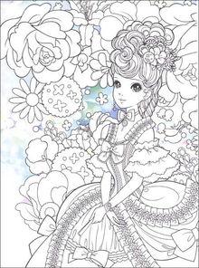 公主画涂色