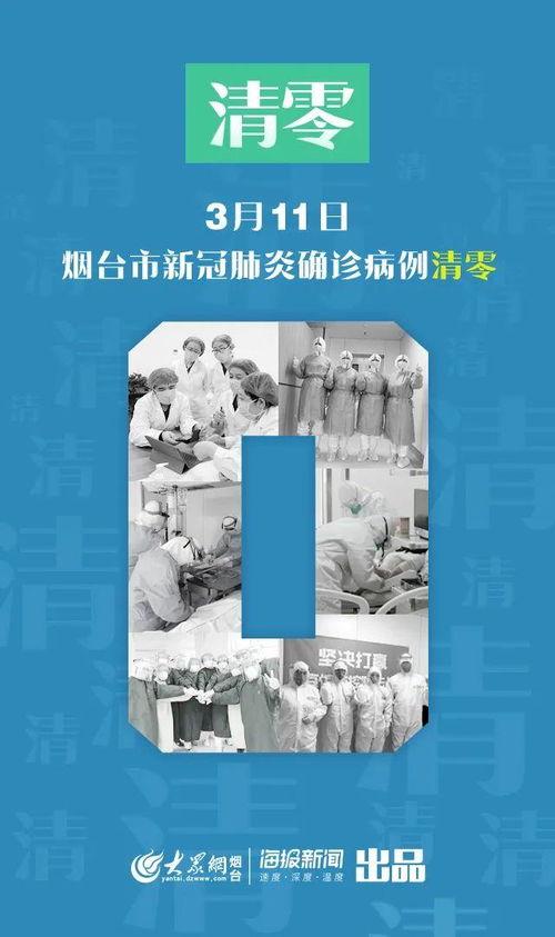 3月11日,烟台市新冠肺炎确诊病例清零