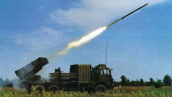 中国向缅甸、秘鲁和孟加拉国出口大量的122毫米轮式火箭炮.