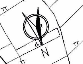 为什么指北针要画成这个样子,和一个圆圈里面有个简单窄扇形的有什么区别
