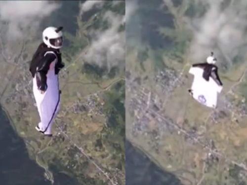 翼装飞行身亡女生最后一跳画面曝光飞行19秒后偏离路线急剧下降