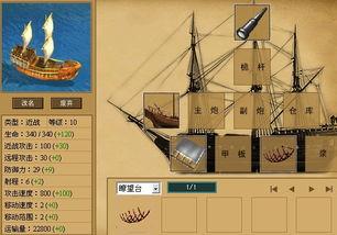 航海风云 船只10级装备秀