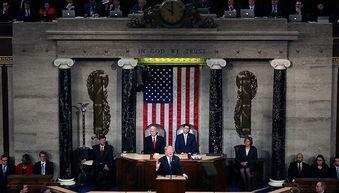 1月30日,特朗普在国会发表国情咨文演讲.