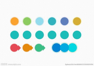 渐变圆 彩色的圆图片