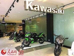 日本川崎摩托入驻海南 海口川崎摩托车店开业