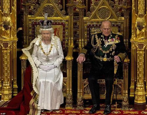 英国女王伊丽莎白二世和其丈夫菲利普亲王