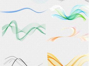 弧线-彩带素材