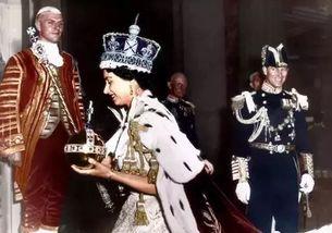 1953年6月2日英国女王加冕典礼上的情景。