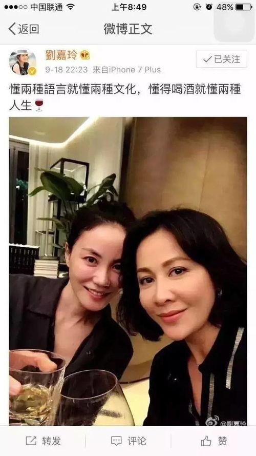 刘嘉玲与王菲举杯共饮