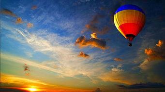 黄昏热气球