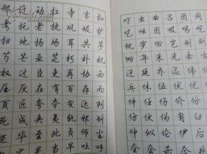 行楷钢笔字(想练硬笔书法,谁能推)