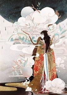 唯美简笔画之美丽的古代公主