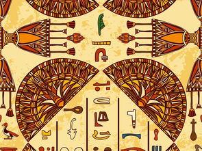 古老文化传统宗教图案