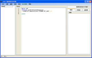 批处理编辑器 批处理编辑器 iBAT V1.6绿色版