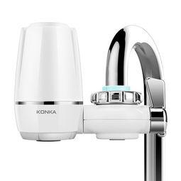 康佳konka净水器水龙头家用厨房自来水过滤器净水机kpwlt01tz一机四芯白色