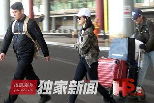 购物狂的完美生活宋茜带两支大行李箱抵京