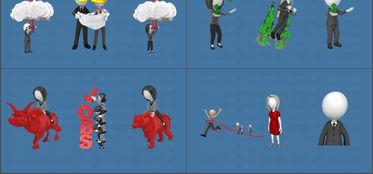 3D小人三维卡通动画GIF图片素材PPT模版第四季模板下载 50.55MB 信息图表大全 图形图表
