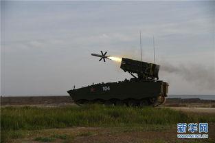 6月4日,参演的红箭-10反坦克导弹正在进行实弹射击.