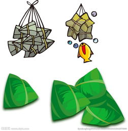 矢量粽子 卡通粽子素材图片