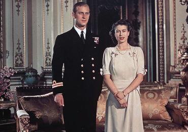 伊丽莎白和菲利普订婚照