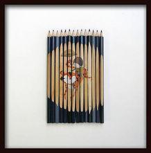 铅笔上的画