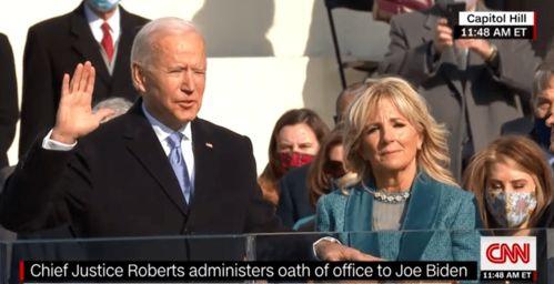 拜登宣誓就任美国总统
