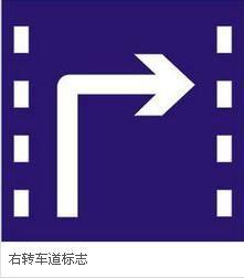 右转弯标志和右转弯车道区别