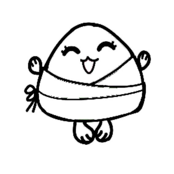 粽子卡通简笔画图片 2