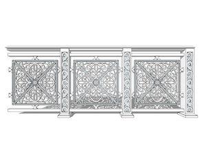 240款草图大师木质护栏模型设计图下载 图片196.44MB 家装模型库 室内模型
