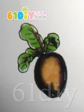 瓜子壳贴画 萝卜