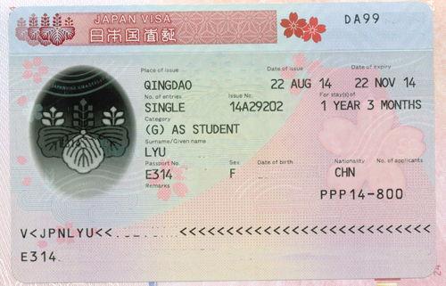广州日本自由行签证费用