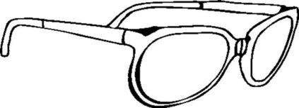 眼镜简笔画