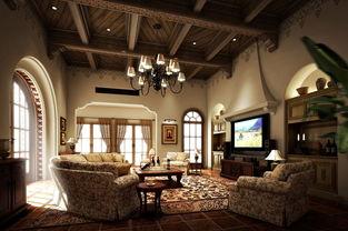 别墅客厅装修效果图-零距离设计论坛